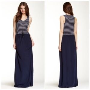 Splendid | Striped Maxi Tank Dress in Navy
